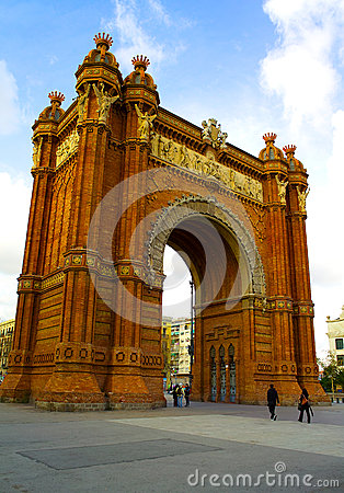 Arc de Triomf in Barcelona Editorial Photography