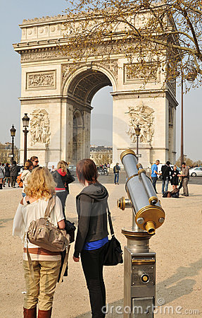 Arc de Triomphe Editorial Stock Photo
