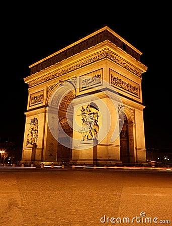 Free Arc De Triomphe Royalty Free Stock Photo - 608585