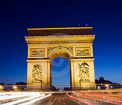 Arc de triomphe arch of triumph paris france