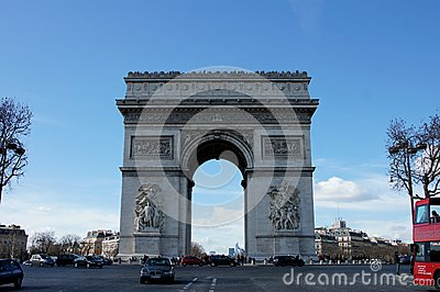 Arc De Triomphe Paris France Editorial Image