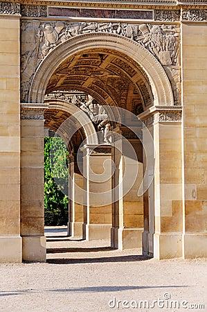 Arc DE Triomphe du Carrousel in Parijs