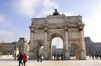 Arc de Triomphe du Carrousel, Paris Editorial Photography