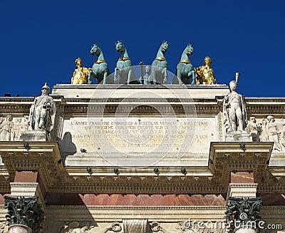 Arc de Triomphe du Carrousel , Paris France