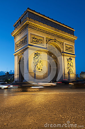Free Arc De Triomphe - Paris Royalty Free Stock Images - 27565139
