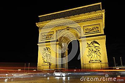 Arc de Triomphe, Paris Editorial Image