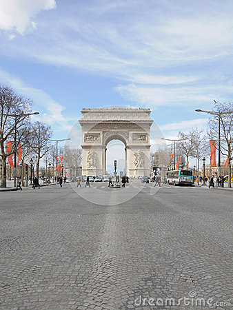 Arc de Triomphe in Paris Editorial Photo