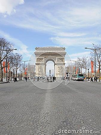Arc de Triomphe in Paris Editorial Photo