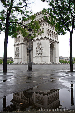 Arc De Triomphe and Reflection