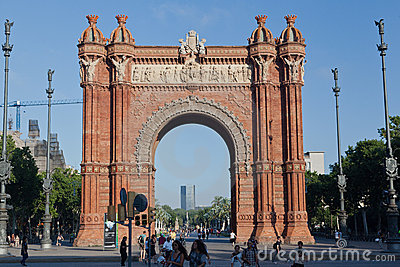 The Arc de Trionf Barcelona Spain Editorial Image