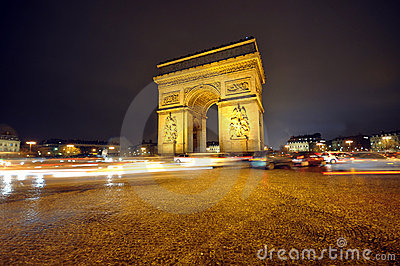 Arc de Triumph Editorial Stock Photo