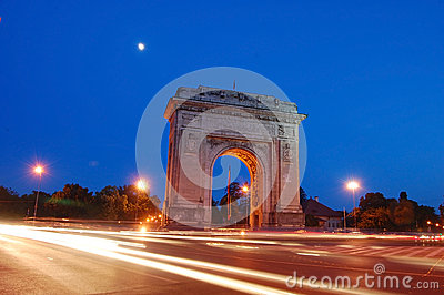 Arc de triumph nightscene
