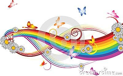 arc en ciel avec des fleurs images libres de droits image 4024509. Black Bedroom Furniture Sets. Home Design Ideas