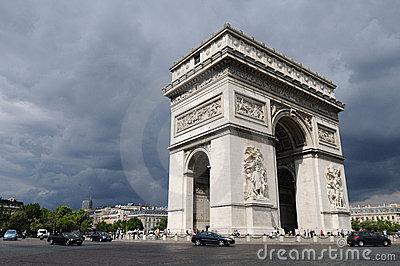 Arc-the-Triomphe Paris Editorial Stock Image