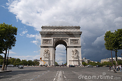 Arc-the-Triomphe Paris Editorial Image