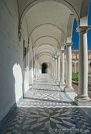 Convent arcade in Italy