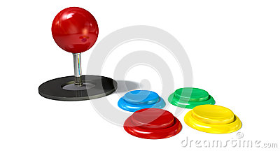 Arcade Control Joystick And Buttons