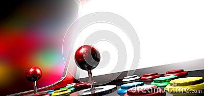 Arcade Game With Illuminated Screen
