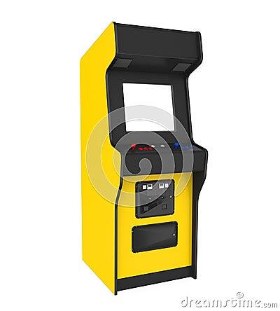 Free Arcade Game Machine Isolated Stock Photo - 124880790
