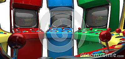 Arcade Game Machines row