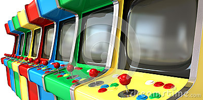 Arcade Game Machines row