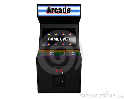 Arcade Game on White