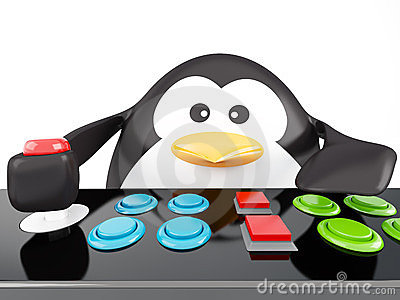 Arcade penguin