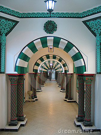 An arcade in Tunis