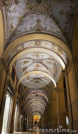 Arcades in Bologna, Italy