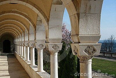 Arcades and garden architecture Royal Palace