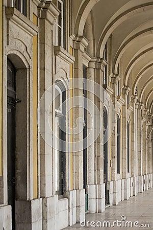 Arcades at Lisbon city