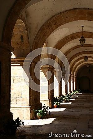Arcades in monastery