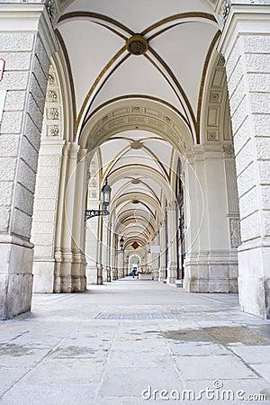 Arcades in Vienna, Austria
