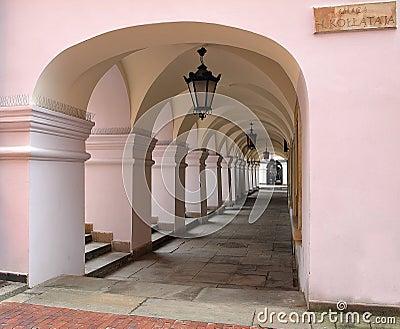 Arcades in Zamosc