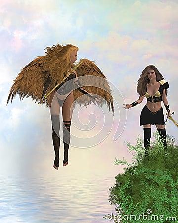 Arch Angel Offering Help