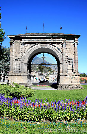 Arch of Augustus in Aosta, Italy