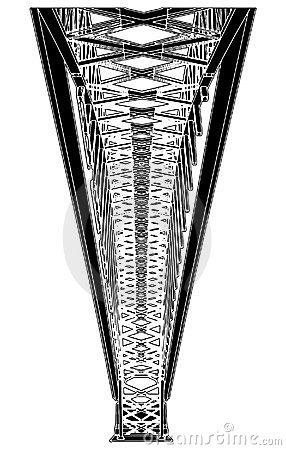 Arch Bridge Steel Structure Vector 01