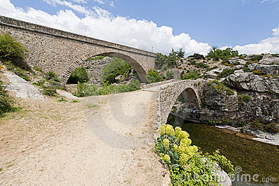 Arch bridges in Corsica, France