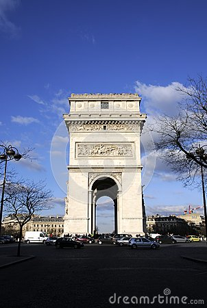 Arch building in paris