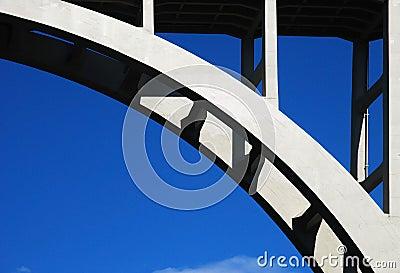 Arch concrete bridge
