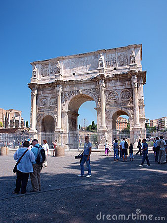 Arch of Constantine the Great, Rome, Italy Editorial Stock Image