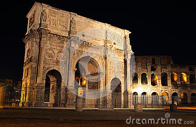 Arch of Constantine  at night