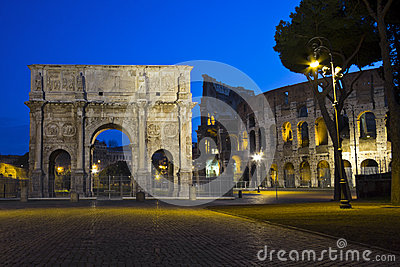 The arch of Costantine, Rome, Italy