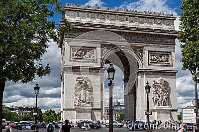 Arch of Triumph Paris Editorial Photo
