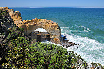 Arch formation on the Great Ocean Road, Australia