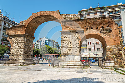The arch of Galerius Editorial Stock Photo