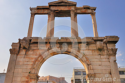 Arch of Hadrian with Acropolis