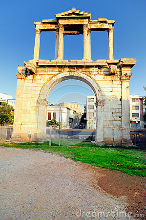 Arch of Hadrian with Acropolis in  background