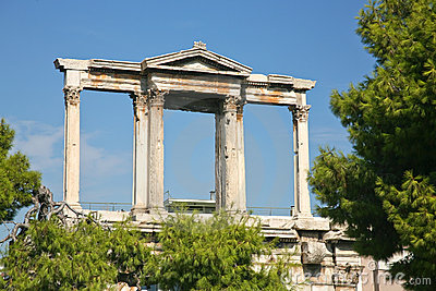 Arch of Hadrian in Athens