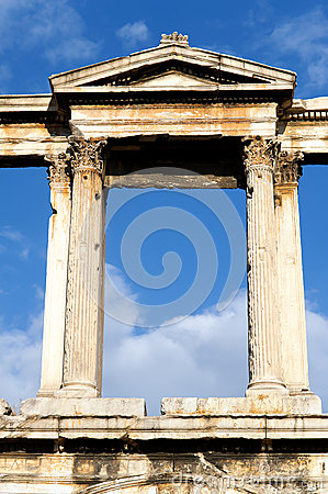 The arch of Hadrian, Athens